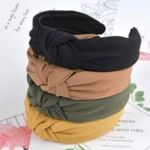 Set of 4 Knotted Headbands NEW